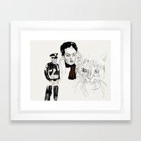 Lovely faces Framed Art Print