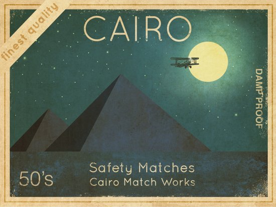 Cairo Safety Matches  Art Print