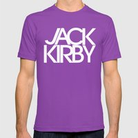 Classic : Jack Kirby Bla… Mens Fitted Tee Ultraviolet SMALL