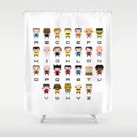 Pixel Star Trek Alphabet Shower Curtain