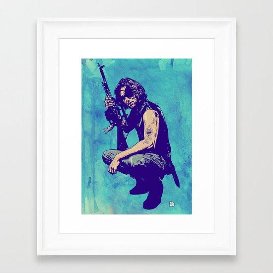Snake Plissken Framed Art Print
