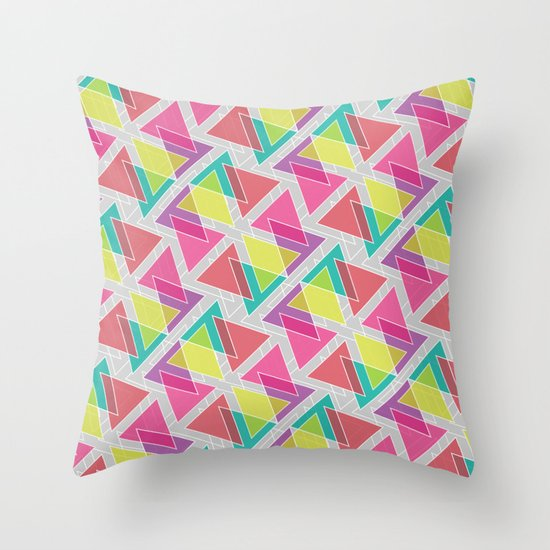 Let's Celebrate The Triangle Throw Pillow