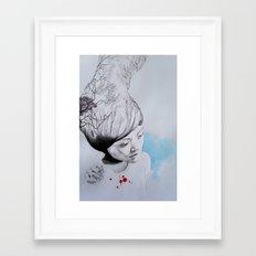 Hidden trees Framed Art Print