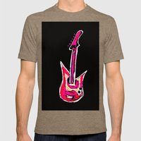 pink guitar Mens Fitted Tee Tri-Coffee SMALL