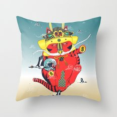 CATCRANEFISH Throw Pillow