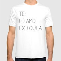 Tequila Mens Fitted Tee White SMALL