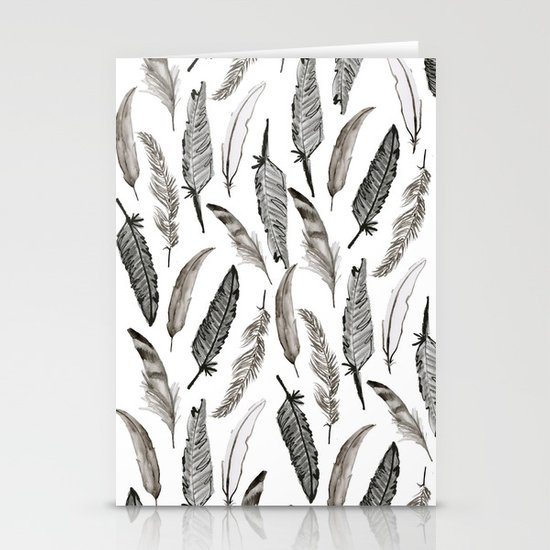 Feather Pattern Stationery Card