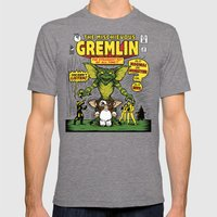 The Mischievous Gremlin Mens Fitted Tee Tri-Grey SMALL
