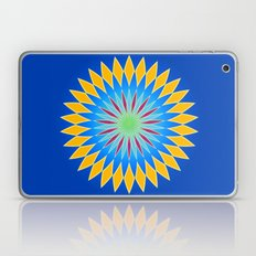Colorful abstract star on dark blue background Laptop & iPad Skin