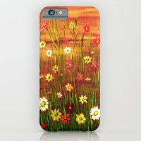 Flowers in the sunrise iPhone 6 Slim Case