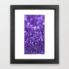 purple glitter trail Framed Art Print
