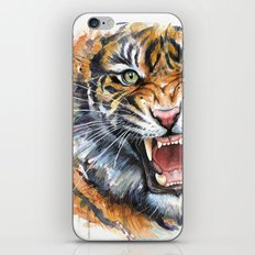 Tiger Watercolor Painting iPhone & iPod Skin