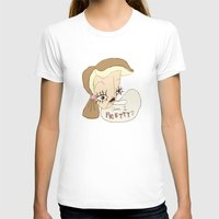 Am I Pretty? Womens Fitted Tee White SMALL