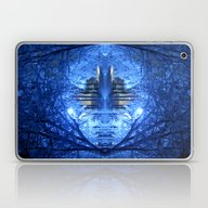 Wintery Abstract Forest Laptop & iPad Skin