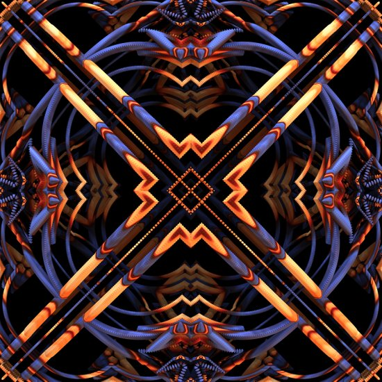 Criss Cross II Art Print