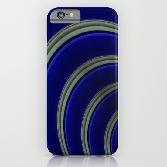 Blue And Silver Curves iPhone & iPod Case
