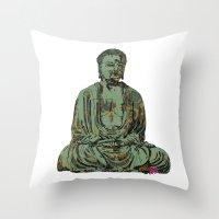 The Big Buddha Throw Pillow