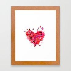 Heart1 Red Framed Art Print