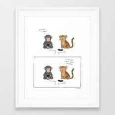 Video Games Are Awesome  Framed Art Print