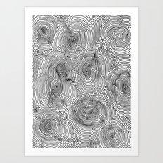 Contours Art Print
