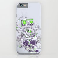 iPhone & iPod Case featuring Hippy robot by Mathijs Vissers