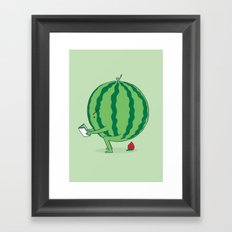 The Making of Strawberry Framed Art Print