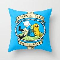 The Adventures of Finn & Jake, Too Throw Pillow