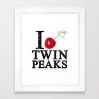 I Love Twin Peaks (Cherr… Framed Art Print