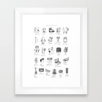 abecedario abc Framed Art Print
