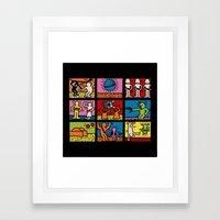 Keith Haring & star W.2 Framed Art Print