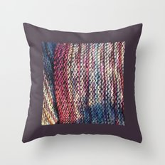 Knit Me Blue Throw Pillow