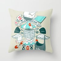 Brinking Valomatics Throw Pillow