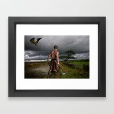 Fantasy Warrior Framed Art Print