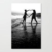 Love BW Canvas Print
