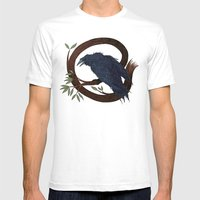 Raven  Mens Fitted Tee White SMALL