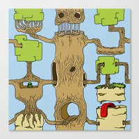 Canvas Print featuring Tree of life by Mirko