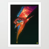 BLACK GLAM TEAR Art Print