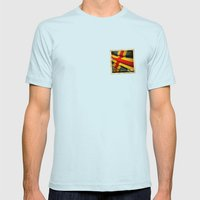 Grunge sticker of Aland Islands flag Mens Fitted Tee Light Blue SMALL