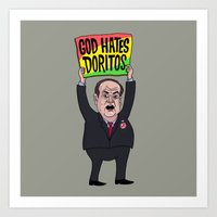 God Hates Doritos Art Print