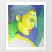 Color me highlighter Art Print