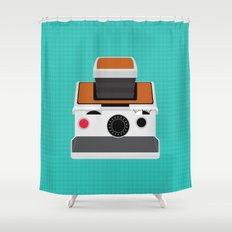 Polaroid SX-70 Land Camera Shower Curtain