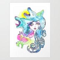 Miss Canine Art Print