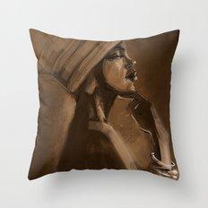 Afro Beauty Throw Pillow