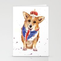 JUBILEE Corgi Print - 8x… Stationery Cards