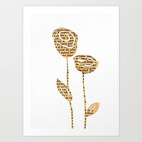 PAPERCUT FLOWER 5 Art Print