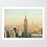 New York City Skyline Dr… Art Print