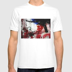 Monitor Mens Fitted Tee SMALL White