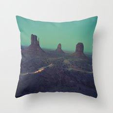 Desert Road Throw Pillow