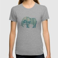 Paper Elephant Womens Fitted Tee Athletic Grey SMALL