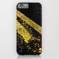 Yellow Lines iPhone 6 Slim Case